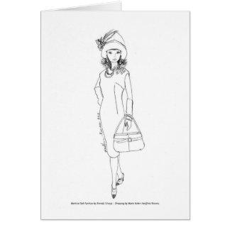 Cartes Rouge d'Aquarelle de mode de poupée de