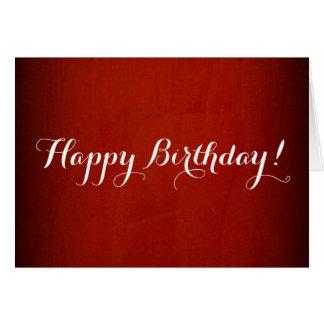 Cartes Rouge dramatique de joyeux anniversaire