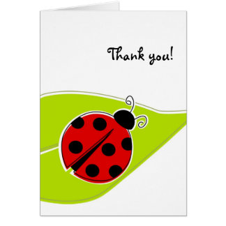 Cartes rouges de Merci de coccinelle