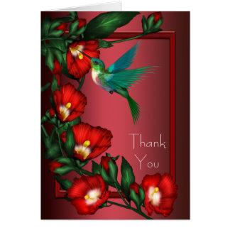 Cartes rouges de Merci de colibri de ketmie