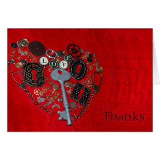 Cartes rouges de Merci de mariage de coeur de