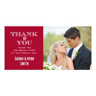 Cartes rouges de Merci de photo de mariage de Cartes Avec Photo