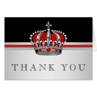Cartes rouges de Merci de prince Crown