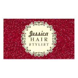 Cartes rouges de rendez-vous de coiffeur de scinti modèles de cartes de visite