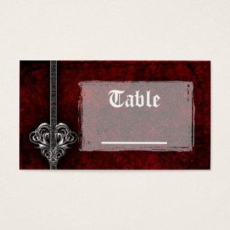 Cartes rouges de Tableau de réception de coeur