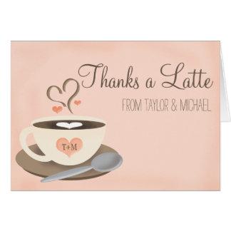 Cartes Rougissent le Merci de mariage de tasse de café de