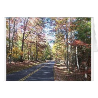Cartes Route de campagne d'automne