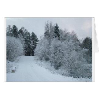 Cartes route neigeuse Estonie de joie d'hiver