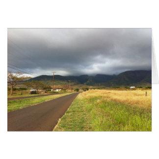 Cartes Route près de Lahaina, Maui, Hawaï