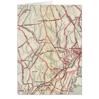 Cartes Routes de bicyclette à New York et Connecticut 6