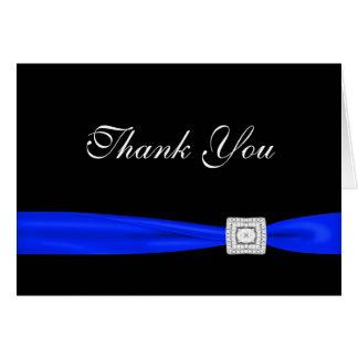 Cartes royales de Merci de noir de bleu marine