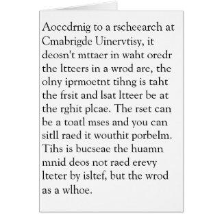 Cartes Rscheearch chez Cmabrigde Uinervtisy Geretign Crad