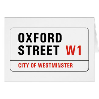 Cartes Rue d'Oxford, plaque de rue de Londres