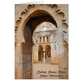 Cartes Ruines antiques de Chellah, Maroc