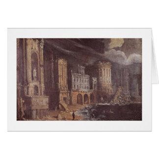 Cartes Ruines avec la légende de St Augustine (l'huile