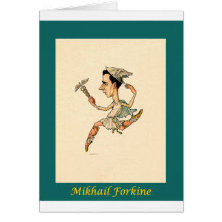 Cartes ~ russe Mikhail Fokine de caricature de ballet