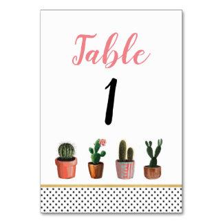 Cartes rustiques de cactus de cactus de mariage de