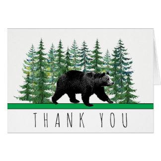 Cartes rustiques de Merci d'arbre de sapin d'ours