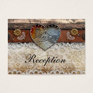 Cartes rustiques de réception de mariage