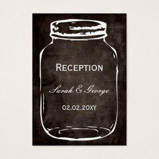 cartes rustiques de réception de mariage de pot de