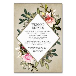 Cartes rustiques d'insertion de mariage de verdure