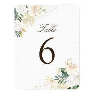 Cartes rustiques romantiques de nombre de Tableau Carton D'invitation 10,79 Cm X 13,97 Cm