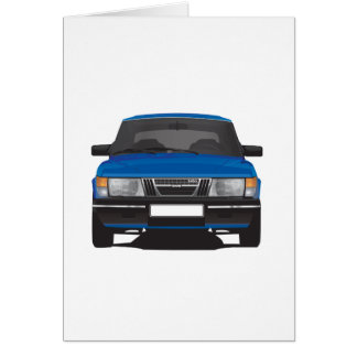 Cartes Saab 900 turbo (bleu)