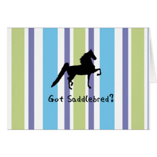 Cartes Saddlebred obtenu ?