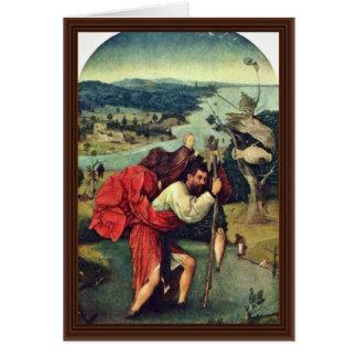 Cartes Saint Christopher. Par Hieronymus Bosch (meilleur