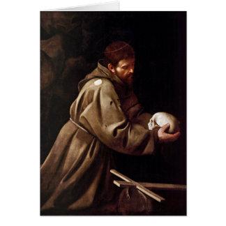 Cartes Saint Francis dans la prière - Caravaggio