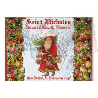 Cartes Saint Nicholas de Noël 4 le Wonderworker