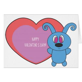 Cartes Saint-Valentin bleue de Rolly je t'aime puisque