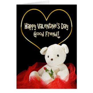 Cartes Saint-Valentin - BON ours de nounours d'AMI/rose