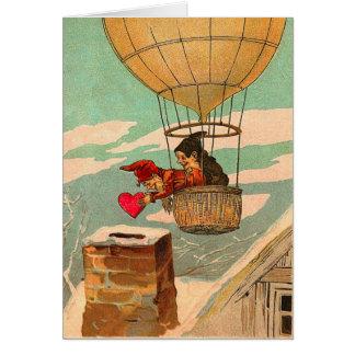 Cartes Saint-Valentin chaude de ballon à air