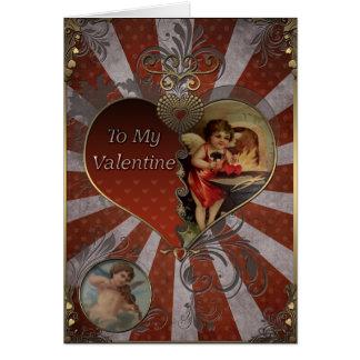 Cartes Saint-Valentin - coeurs de forgeron de cupidon