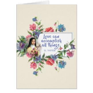 Cartes Saint-Valentin de St Therese de personnaliser