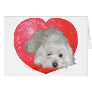 Cartes Saint-Valentin de Tulear de coton