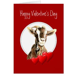 Cartes Saint-Valentin drôle à la vieille chèvre, humour