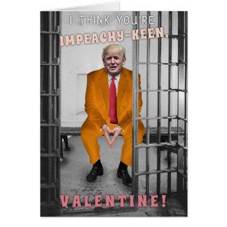 Cartes Saint-Valentin drôle de mise en accusation de
