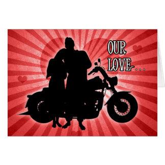 Cartes Saint-Valentin du cavalier   de moto