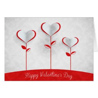 Cartes Saint-Valentin - fleurs de coeur