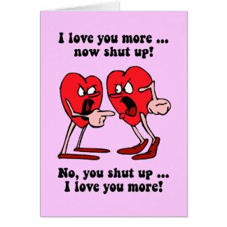 Cartes Saint-Valentin mignonne et drôle