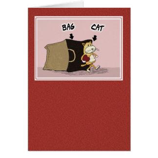 Cartes Saint-Valentin mignonne et drôle : Chat hors du