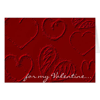 Cartes Saint-Valentin rouge personnalisée de coeurs