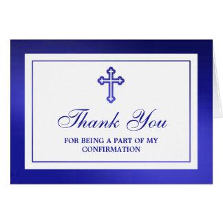 Cartes Sainte communion ou confirmation croisée bleue