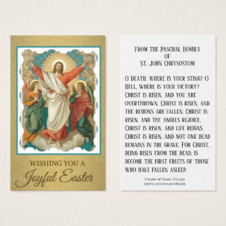 Cartes saintes w/prayer St John de résurrection de