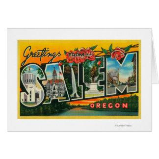 Cartes Salem, lettre ScenesSalem d'OregonLarge, OU