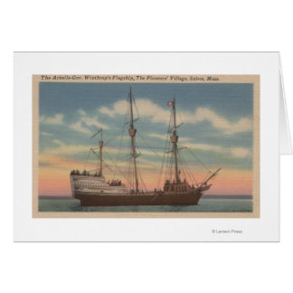 Cartes Salem, mA - vue d'Arbella de capitaine Winthrop's
