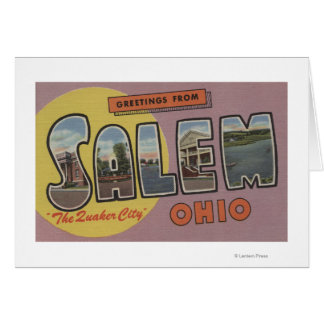 Cartes Salem, Ohio (la ville de quaker)