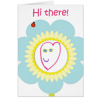Cartes Salut là fleurissez - l'illustration de l'enfant